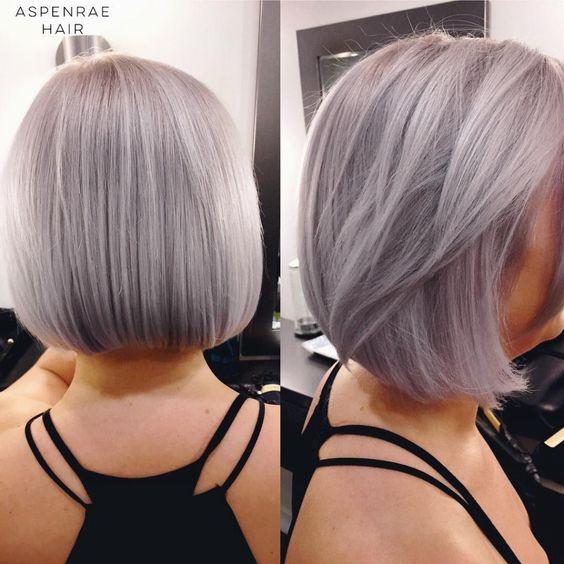 Stunning silver bob haircuts omg love beauty - Bob silberblond ...