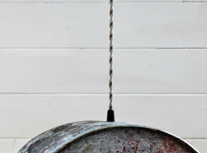 Twisted Cloth Covered Cord on GEM Cistern Water Pump Hanging Light by http://knickoftimeinteriors.blogspot.com/
