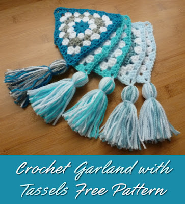 Pretty Tassels Crochet Garland Free Pattern