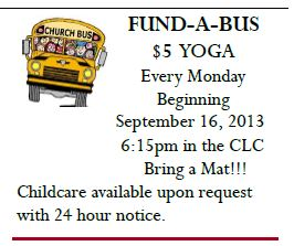 Fund A Bus $5 Yoga at Wesley United Methodist Church, Nederland, Texas