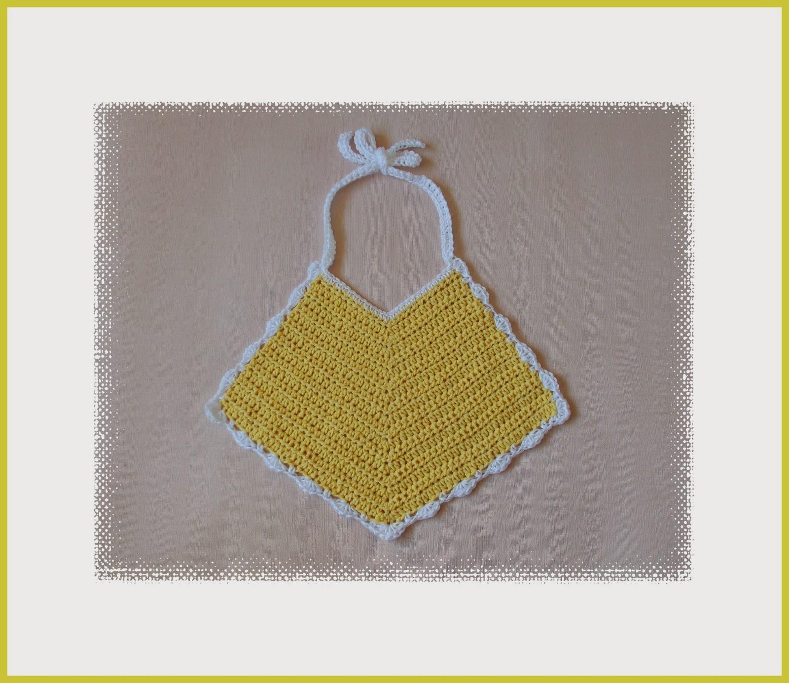 Crochet Cotton Baby Bib Pattern : mariannas lazy daisy days: Pretty Crochet Baby Bibs in ...