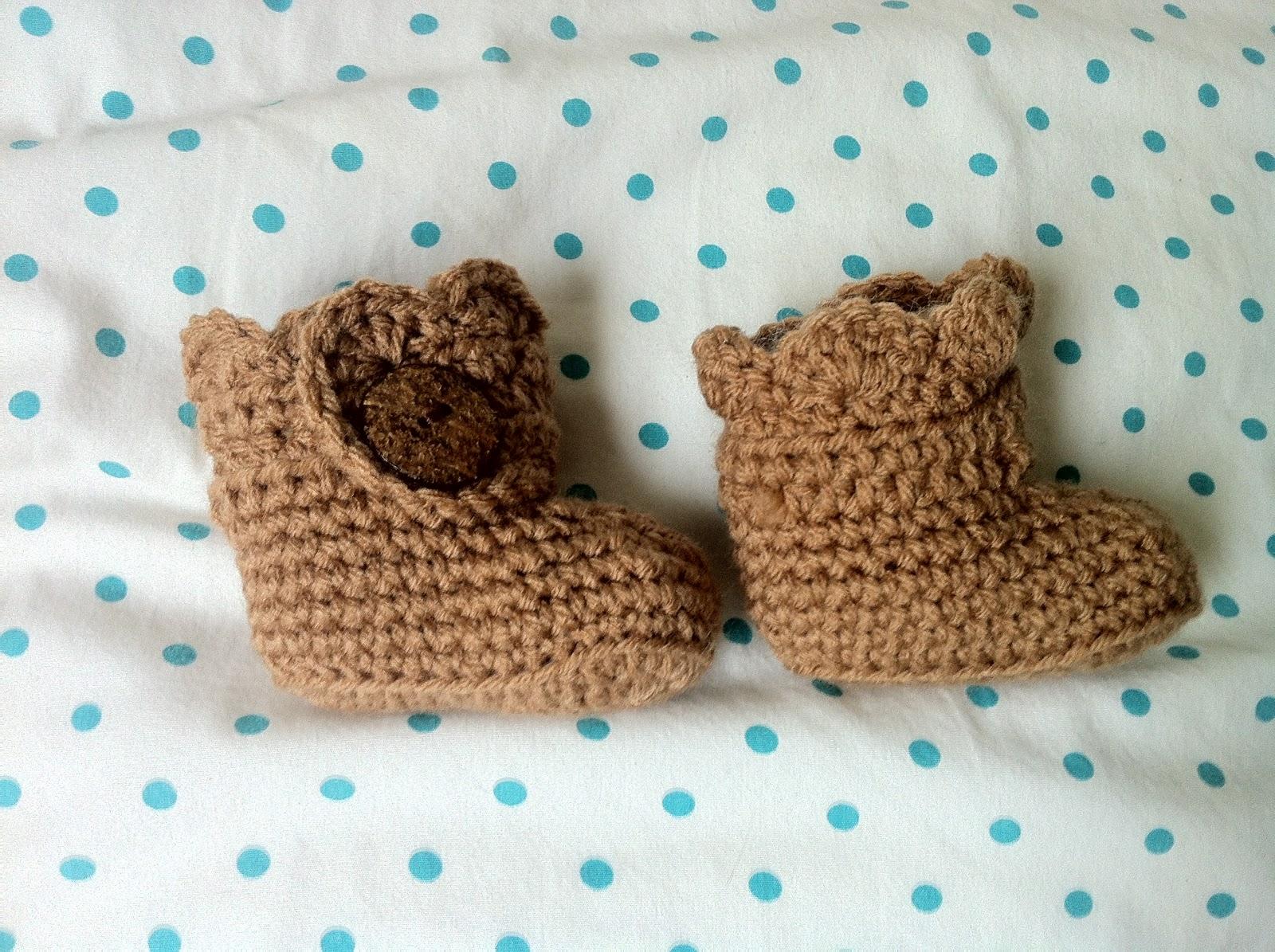 Thread Crochet Baby Booties Patterns : Crochet Baby Ugg Booties