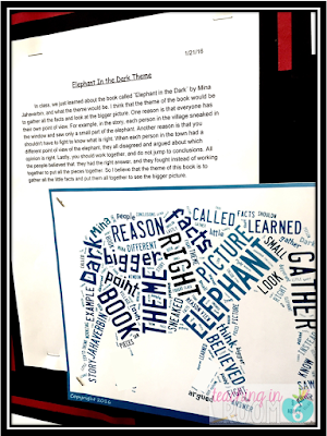 students type their writing about the theme of a book into google docs, then use tagxedo to give it flair.