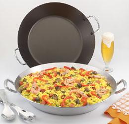 Pan oliva cocineros paella - Paellera de hierro ...