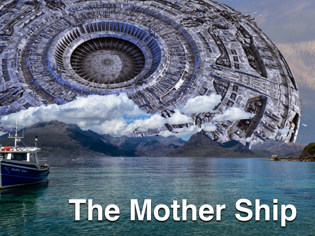 the mother ship a ufo larger than the planet jupiter coming our
