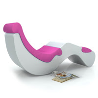 The chaise lounge chair elegant indulgence home interior furniture d - Chaise design confortable ...