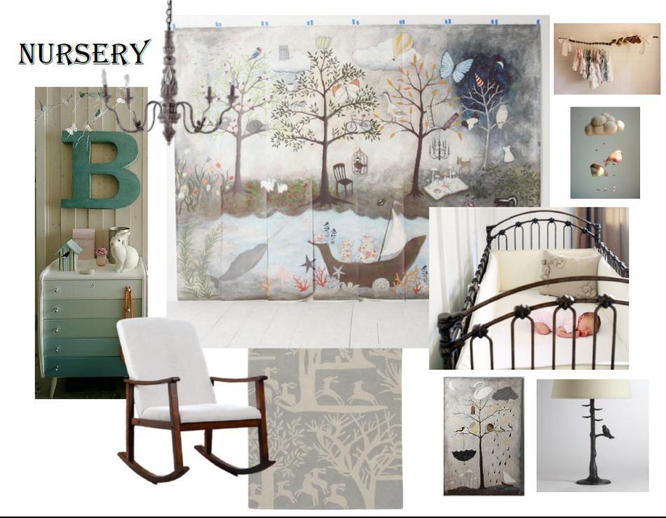 Enchanted Forest Nursery Style Board
