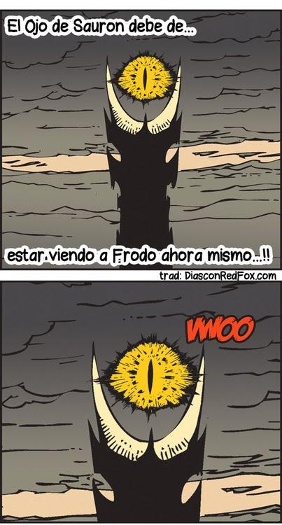 el ojo de Sauron humor