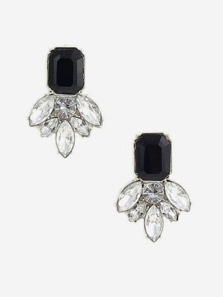 Just J: Olive+Piper onyx cluster stud earrings