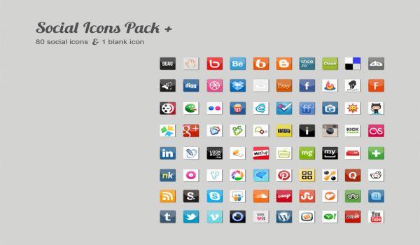 Modern Social Icons Pack