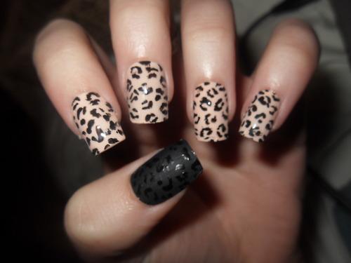cheetah nail design - pccala