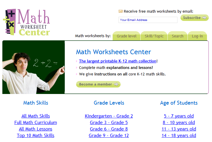Math Worksheet Center Davezan – Math Worksheet Center