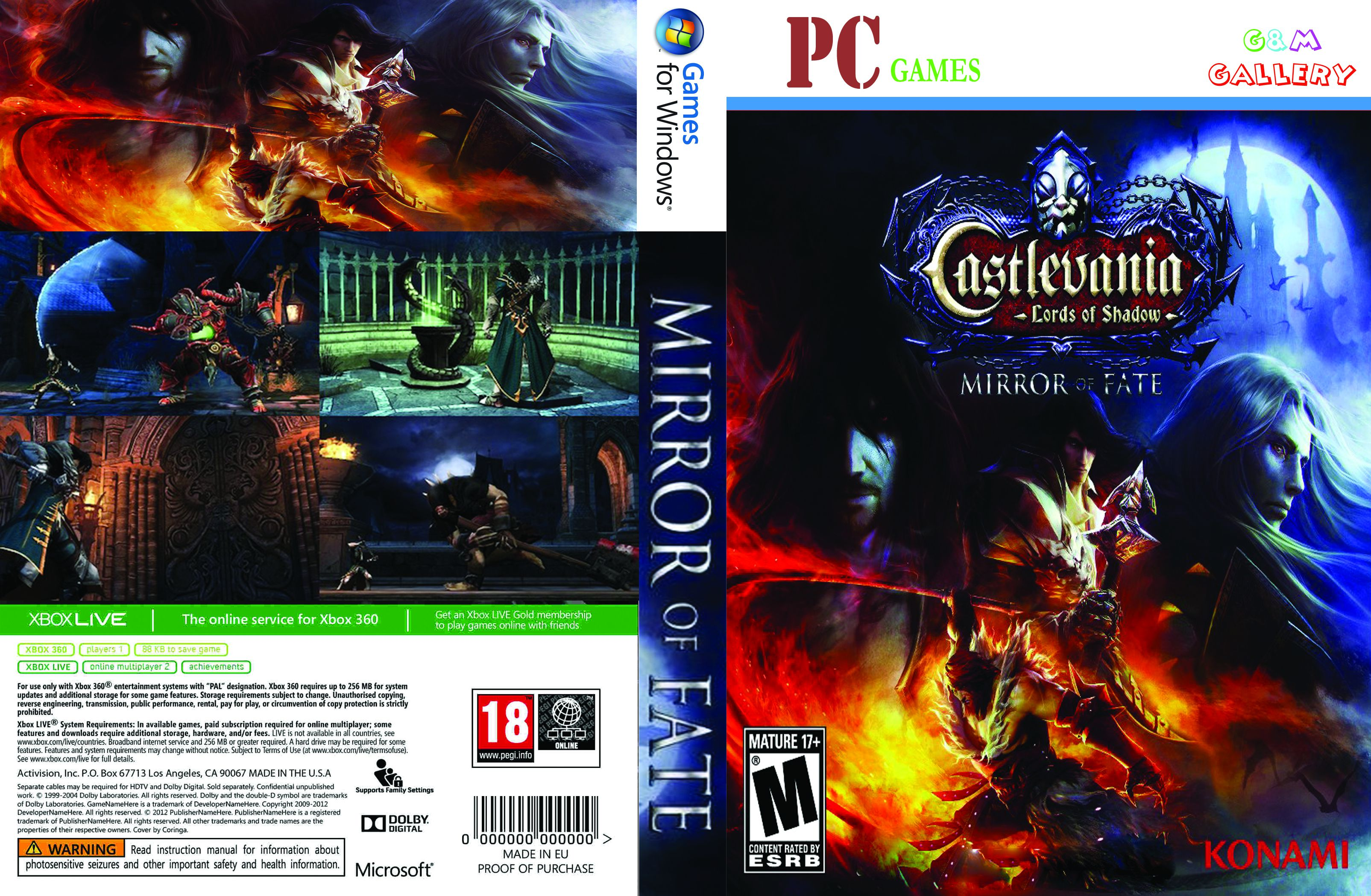 Capa Castlevania Lords Of Shadow Mirror Of Fate PC