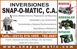 INVERSIONES SNAP-O-MATIC C.A. en Paginas Amarillas tu guia Comercial