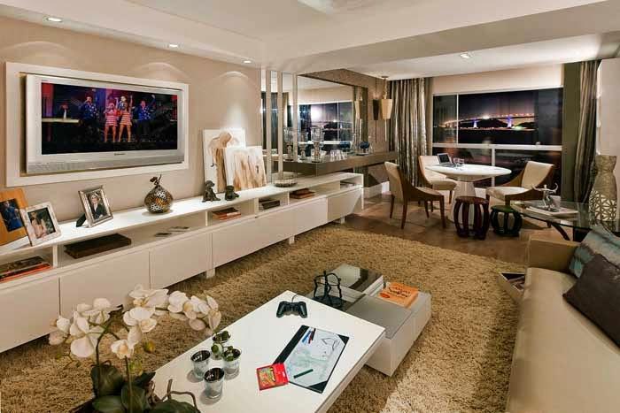 Blog Sala De Tv Terra ~ Salas de TV – veja 30 modelos lindos e dicas decoração!  Decor