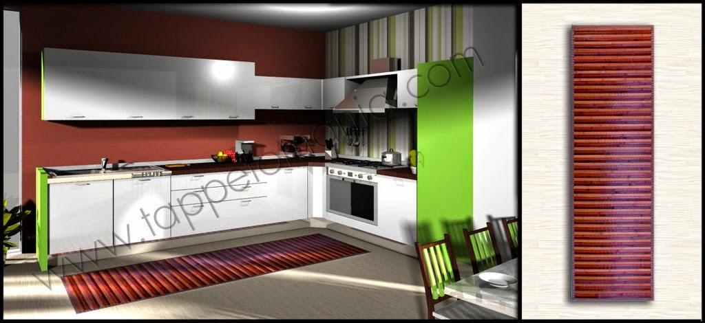 Stuoia cucina in cotone tappeti per arredare la tua casa - Tappeti da cucina in cotone ...