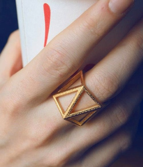 3d printed jewelry gold ring beautiful