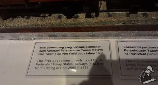 Koc Penumpang Keretapi Pertama di Malaya
