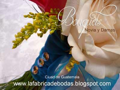 Bouquets ramos flores de novia y dama boda guatemala