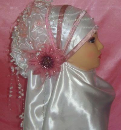 Hijab simple mariée