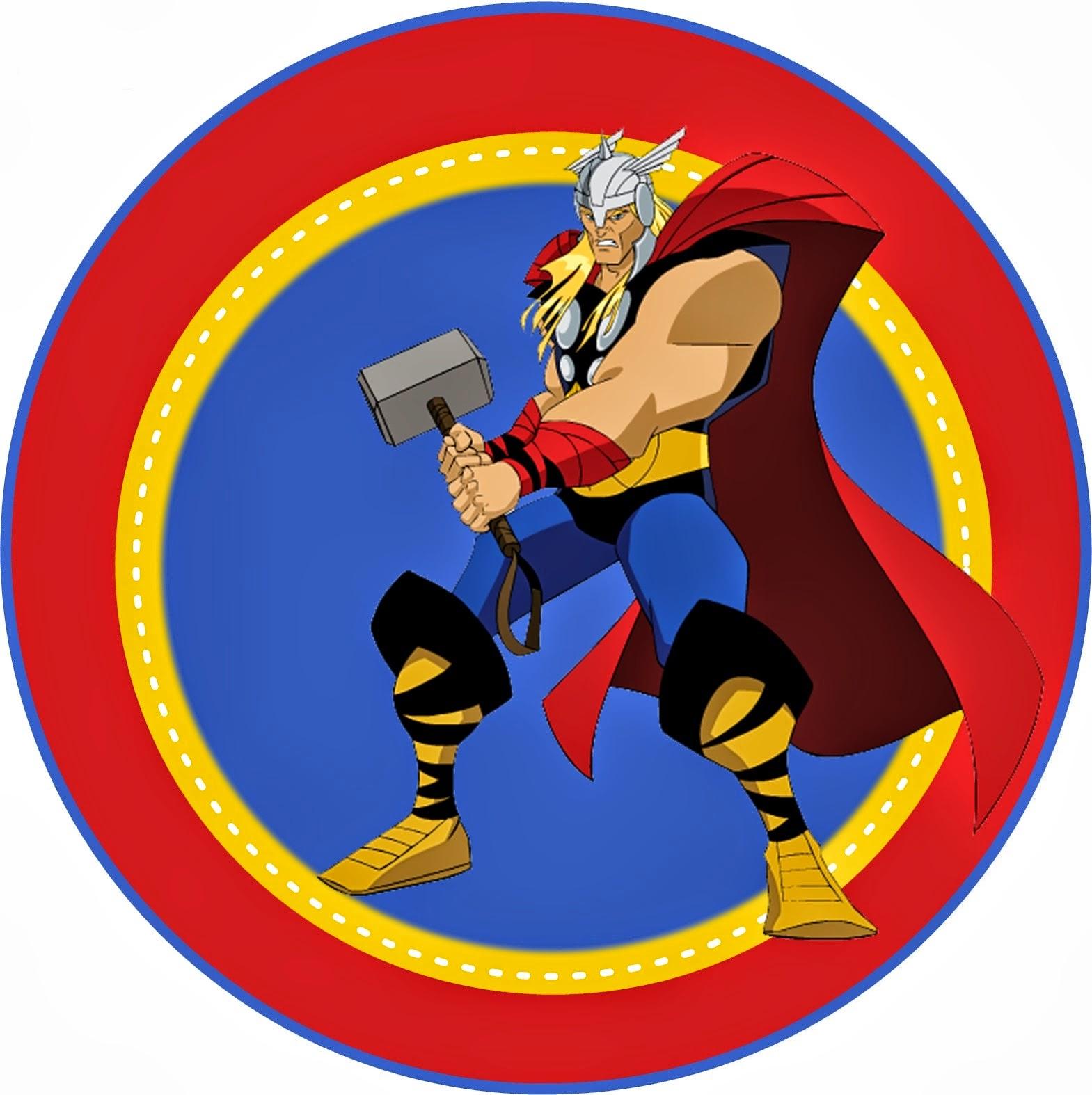 Los Vengadores: Toppers,stickers o etiquetas para Imprimir Gratis.