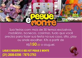 Pegue e Monte: Alugue nossos kits e decore sua festa