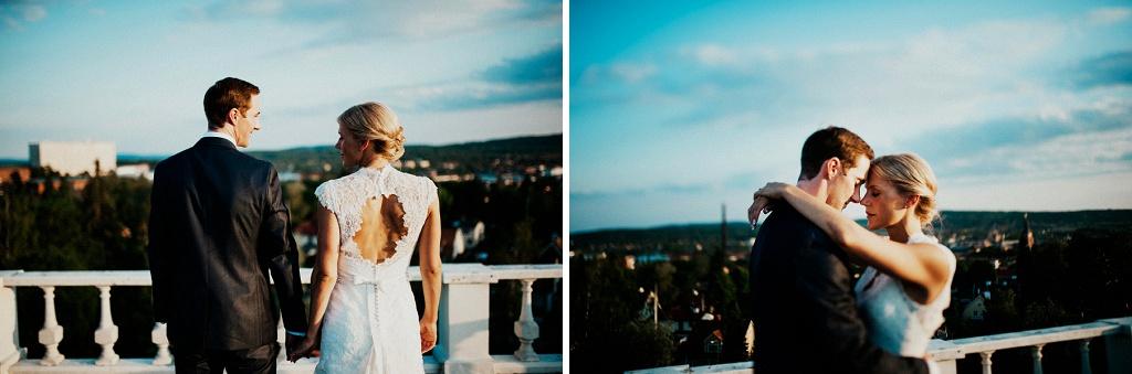 Bröllopsporträtt på Bergalid i Falun