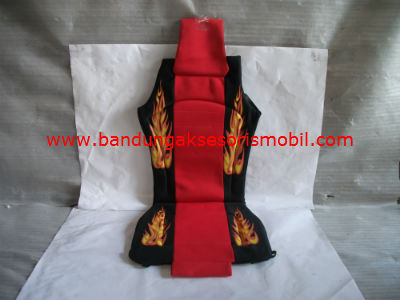 Sandaran Jok Big/Full Fire (Merah/Hitam)