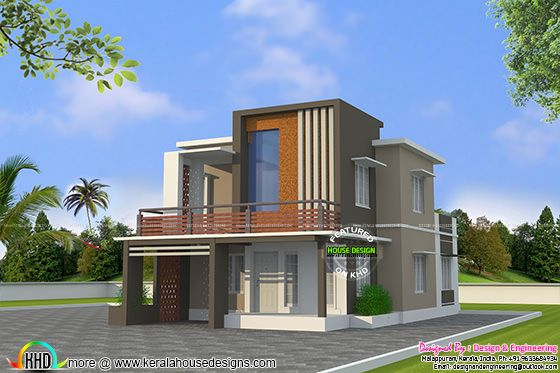 Low cost double floor home plan kerala home design and for Kerala home designs low cost