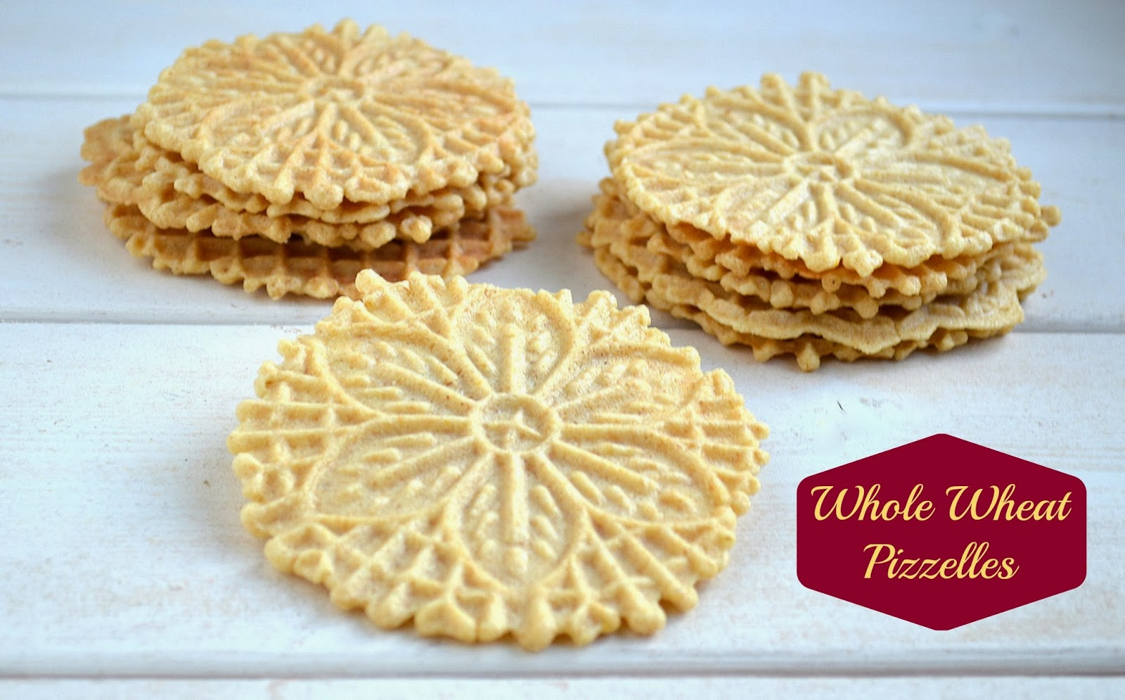 How to Make Half Whole Wheat Pizzelles With Dark Chocolate Speckles