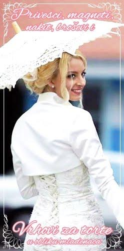 POKLONI za mladence i goste venčanja:  magneti, privesci, broševi, nakit i vrhovi za torte