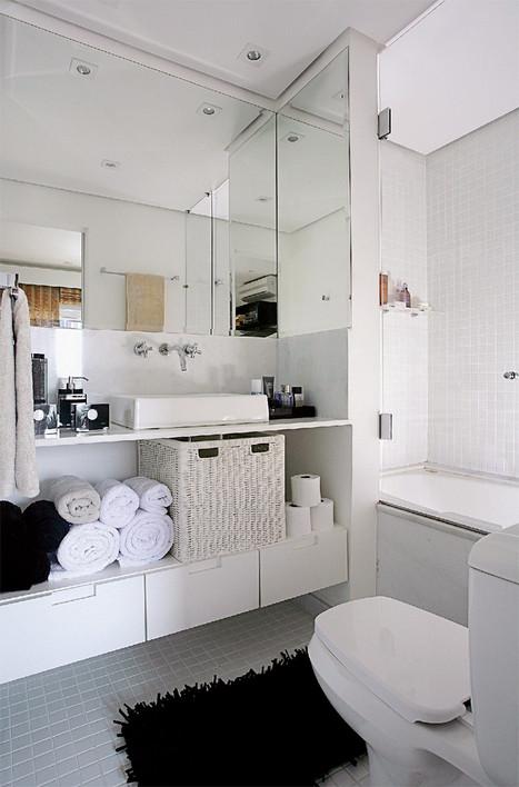 ARQUITETANDO BANHEIROS E LAVABOS  parte 1 -> Banheiro Compacto Com Banheira