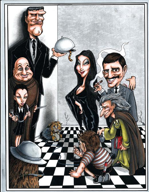 The Addams Family por drawdan