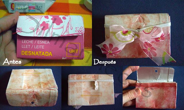 cómo decorar un monedero de tetrabrick