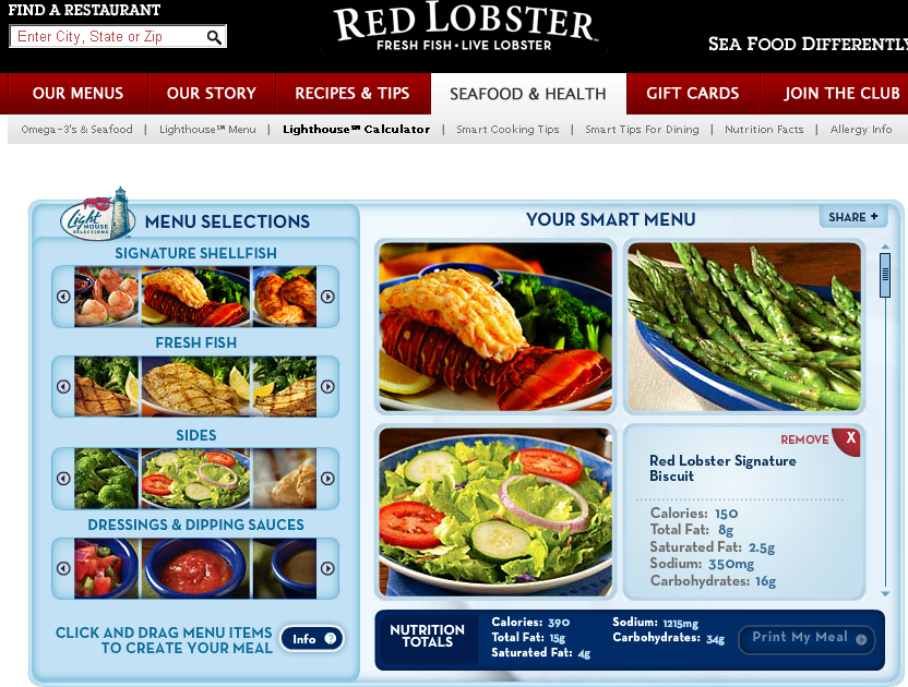 Low Calorie Nights Out: Red Lobster Low Calorie Options