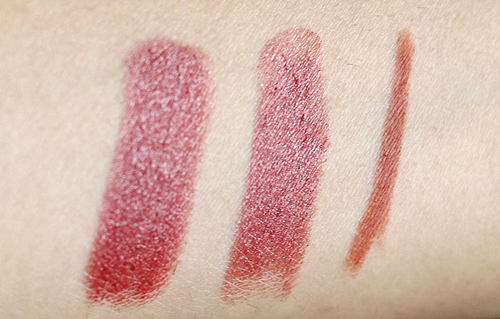 E.L.F Mineral Lipstick in beautiful berry rimmel exaggerate lip liner epic review swatch
