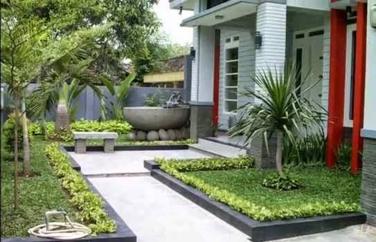 rumah nyaman dan indah desain taman