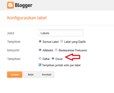 modif label cloude blogger