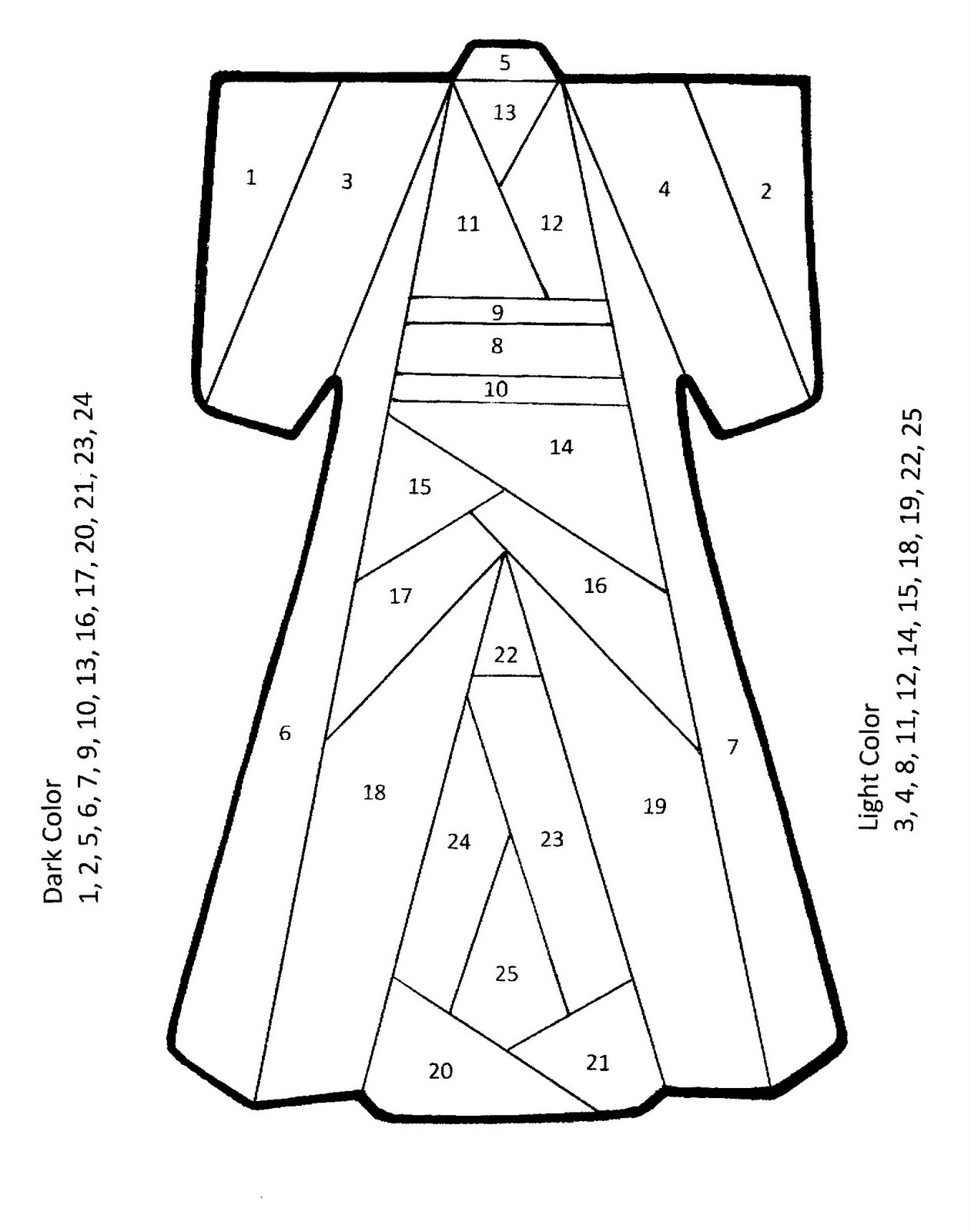 Iris folding kimono pattern