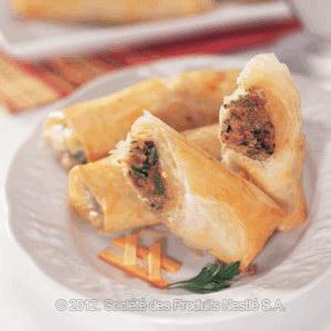 Filo Fingers With Lamb Recipe
