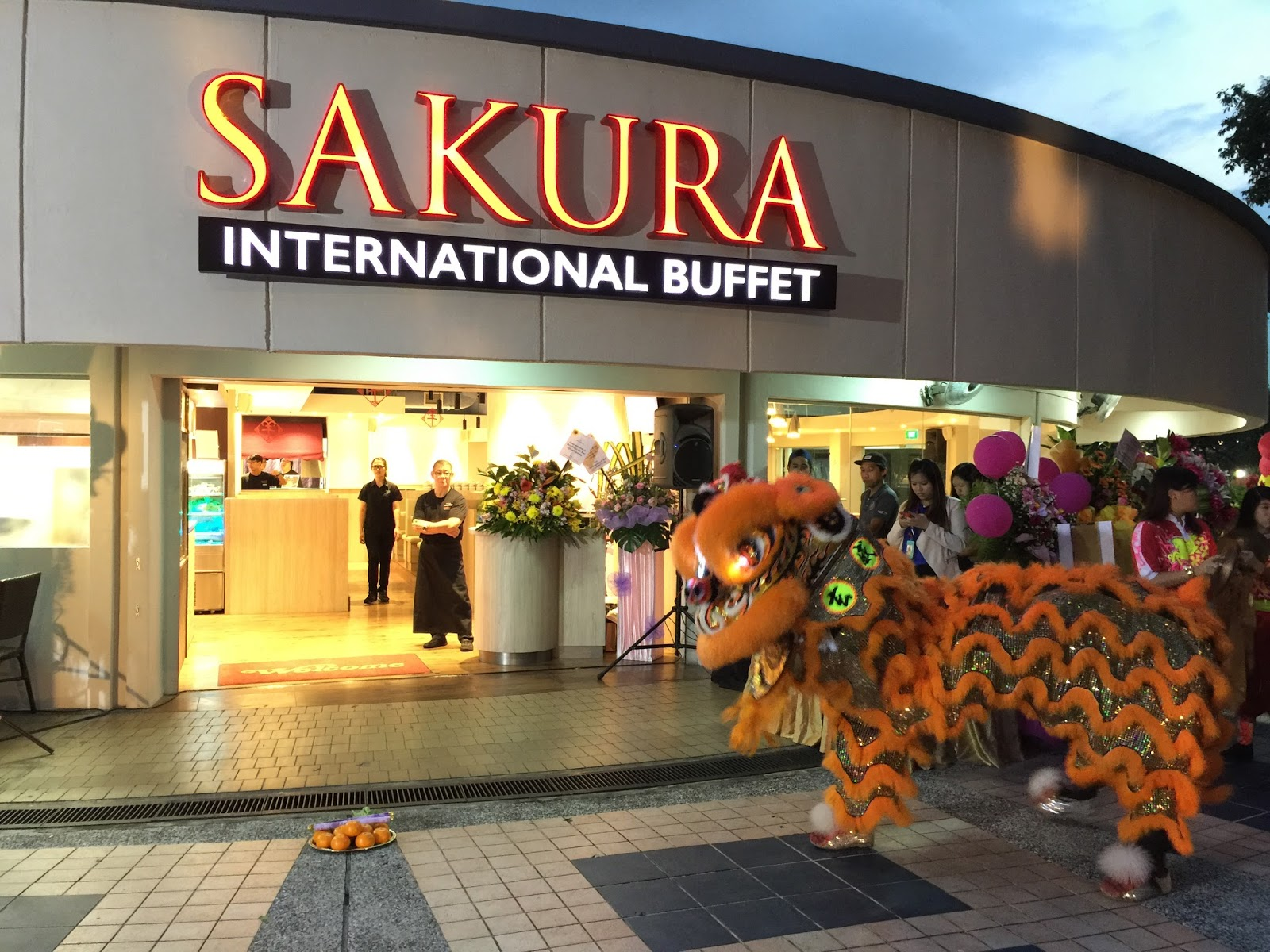Sakura International Buffet Lion Dance