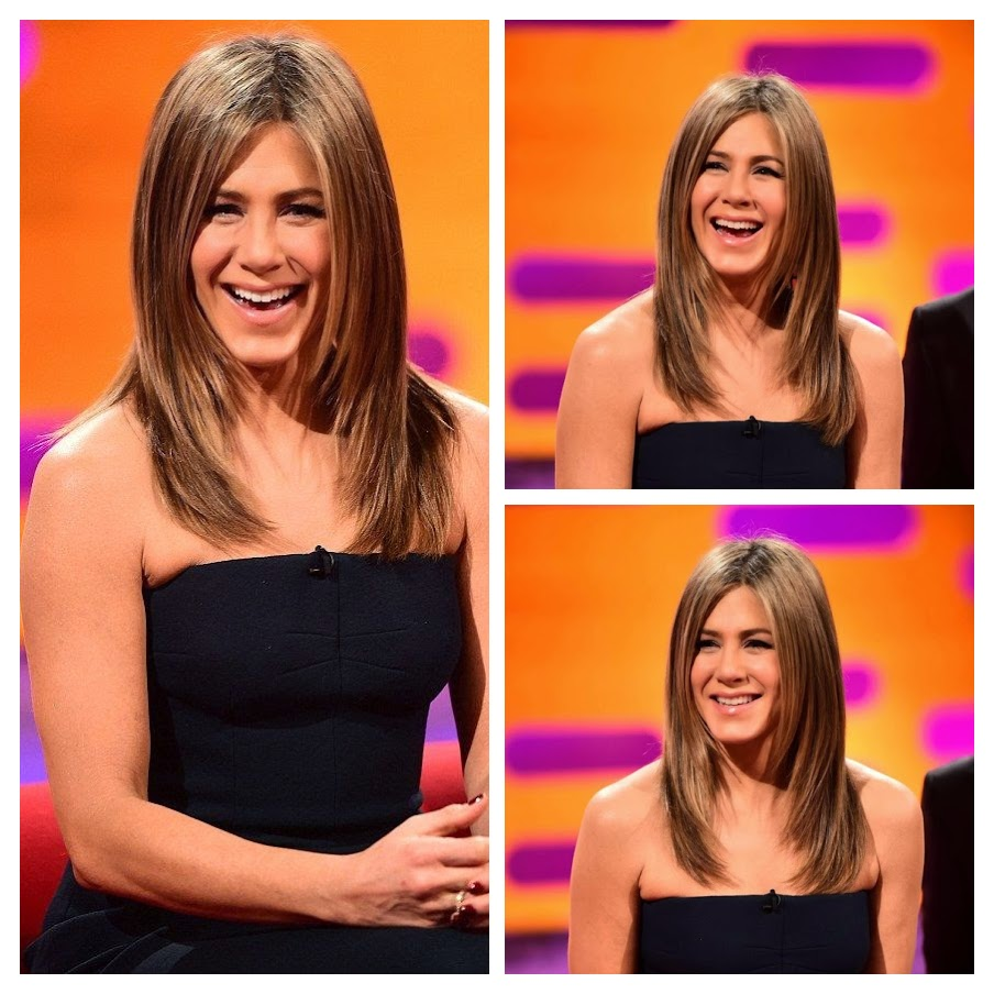 When Jennifer Aniston in the top simply of beautifulness, there were a great moment that we will never said going to have. And her entrance on Graham Norton show on Thursday, November 20, 2014, the 45-year-old made up for her absence with girl power, sitting so lovely in a dark strapless dress. . . . . Oh my god, she's still on 1990's.
