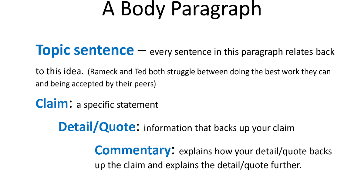 claims and support in an essay
