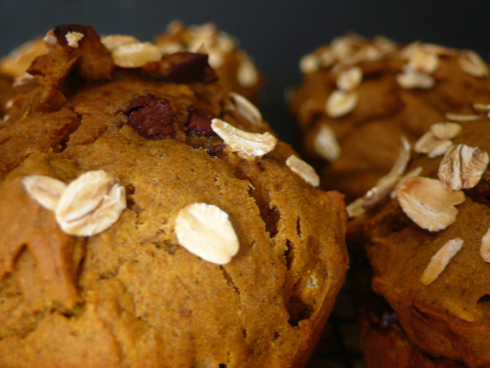 Joyously Domestic: Pumpkin Chocolate Chunk Muffins