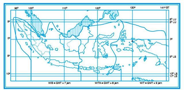 Peta Letak Astronomis Wilayah Indonesia