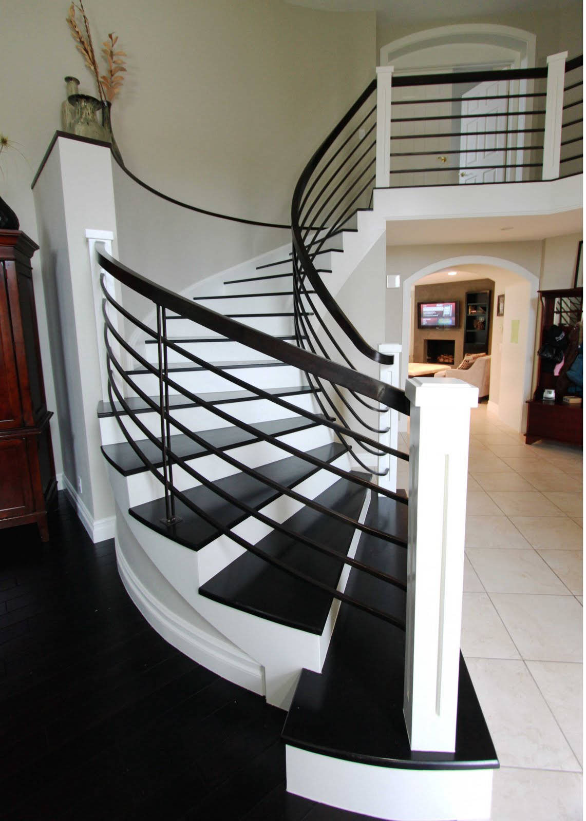 Stiles fischer interior design stairway to heaven before and after - Modern interior design with spiral stairs contemporary spiral staircase design ...
