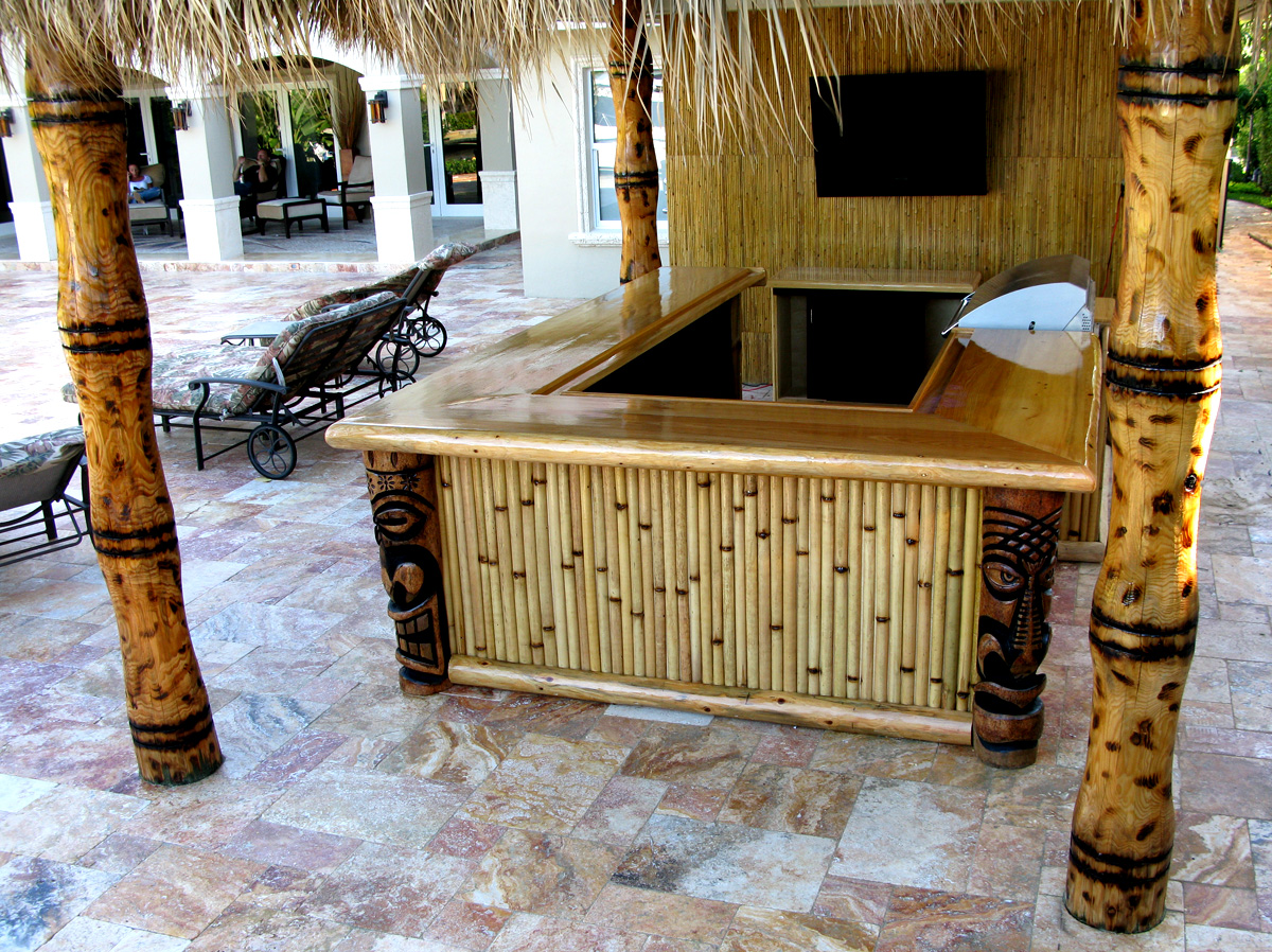 Bamboo Tiki Hut Bar Bamboo Valance Photo