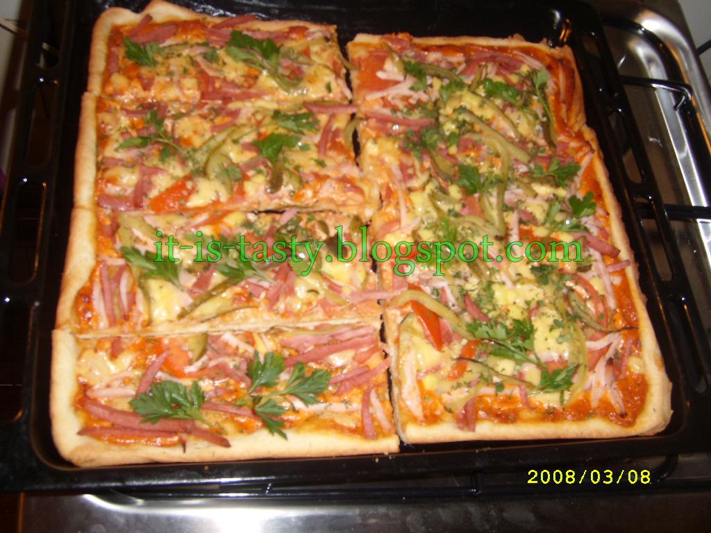 Пицца на протвине рецепт