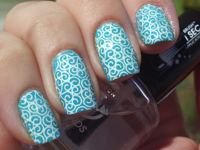 emilys+nail+files+rimmel+turquoise+blue+nail+art+bundle+monster+konad+stamping+2 Turquoise Nails with Decorations