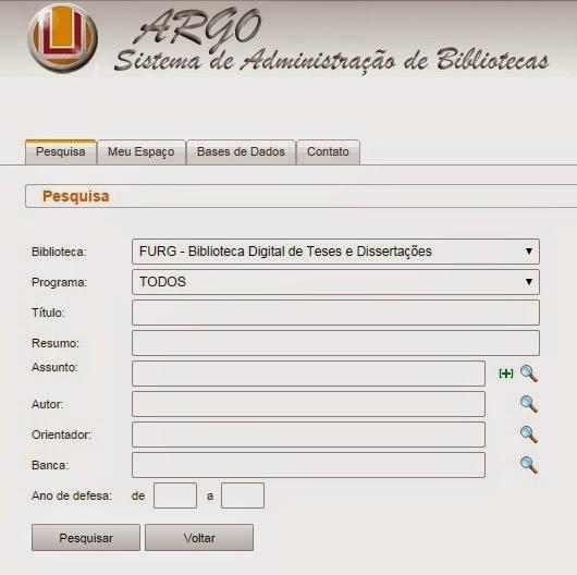 Biblioteca Digital de Teses e Dissertações (FURG)